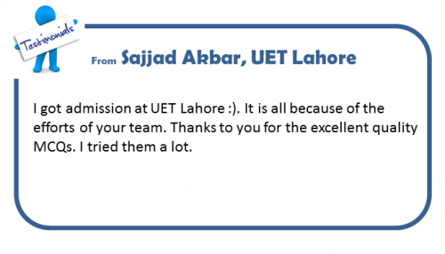 UET Lahore Entry Test