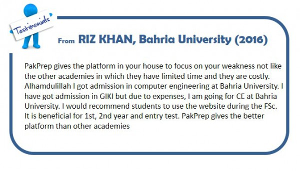RIZ KHAN, Bahria University (2016)