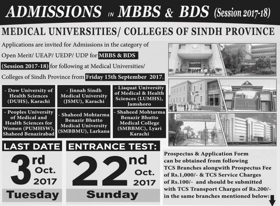 Sindh Medical Colleges Admissions