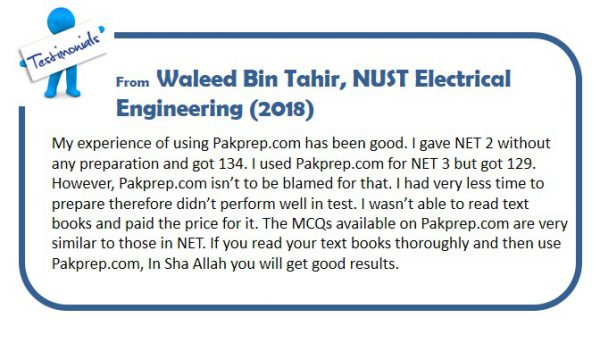 Important Topics For Nust Entry Test