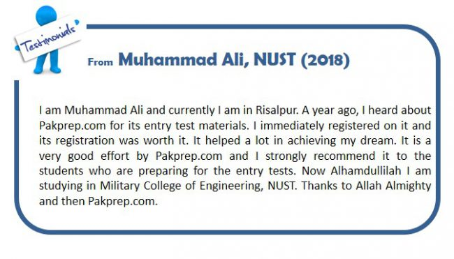 NUST ADMISSION ON THE BASIS OF SAT | Pakprep Blogs
